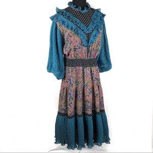 Vintage 80's ruffles dress